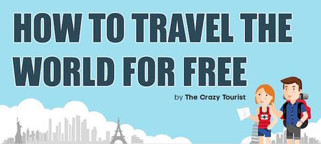 Cost-Free Travelling Guides - This Infographic Lists Seven Methods That Let You Travel for Free