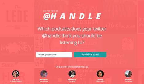 Social Podcast Platforms - Hear Your @Handle Makes Podcast Recommendations Based on Twitter Activity