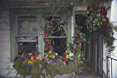 Blooming Abandoned Houses - The 'Flower House' Exhibit Features a Vacant House Filled with Plants