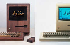 Wooden Computer Replicas - This Macintosh Design Boasts a Wooden Keyboard with Gold-Plated Zinc Keys