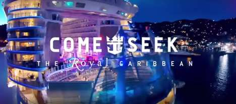 Adventure-Seeking Cruise Ads - Royal Caribbean Courts Millennials by Promising Them Adventure