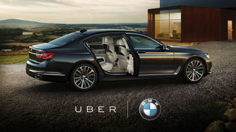 Co-Branded Car Promotions - Uber & BMW are Teaming Up to Provide Free Rides in the New 2016 7 Series