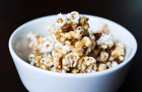 Candy Bacon Popcorn - This Candy Popcorn Snack Fuses Bacon, Bourbon and Caramel