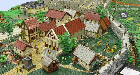 Historical LEGO Displays - This LEGO Reconstruction Skillfully Depicts the Ancient Roman Empire