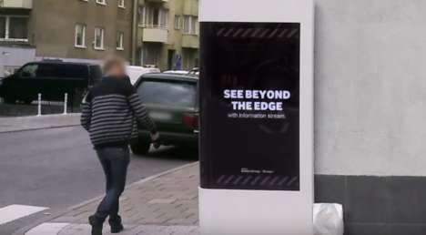 Wrap-Around Alert Billboards - This Interactive Digital Billboard Warns What's Around the Corner