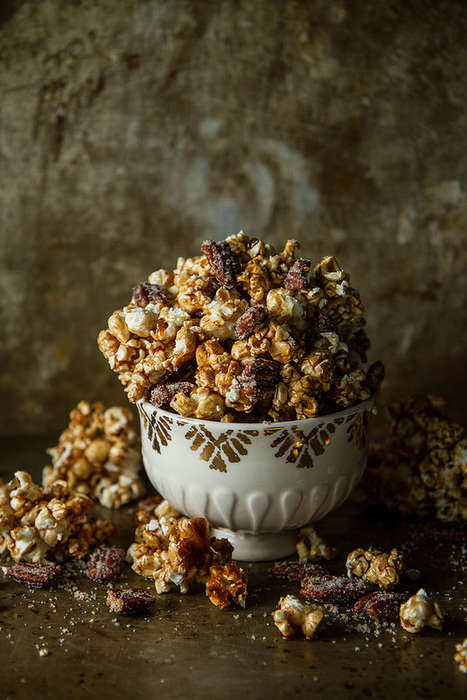 Caramel Cider Popcorn - This Caramel Kettle Corn Recipe Includes Apple Cider for Flavoring