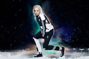 Astronomical Songstress Sportswear - Rita Ora Highlights the Adidas Originals Planetary Power Pack