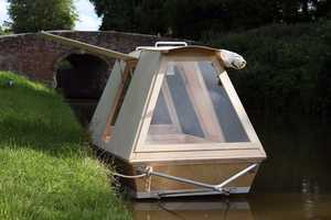 This Portable Floating Shelter Can Easily Be Towed with a Bicycle