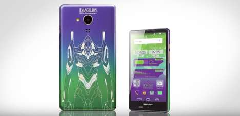 Anime Cyborg Smartphones - This Limited Edition Evangelion Phone is Releasing in Anime-Loving Japan