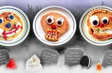 Ghoulish Pancake Designs - These Buttermilk Pancakes are Decorated with Spooky Halloween Faces
