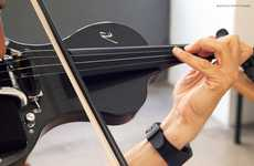 App-Connected Electric Violins - This Smart Connected Instrument Comes with a Built-in Speaker