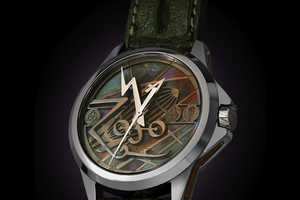 The Led Zeppelin Tribute Watch Has Alligator Straps & the Zoso Symbol