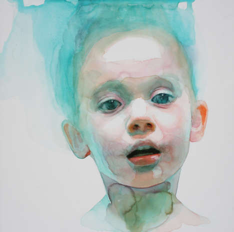 Youthful Watercolor Portraits - These Striking Illustrations Capture the Innocence of Childhood