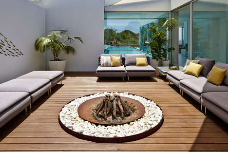 Chic Circular Firepits - These Modern Firepits are the Perfect Addition to Any Outdoor Space