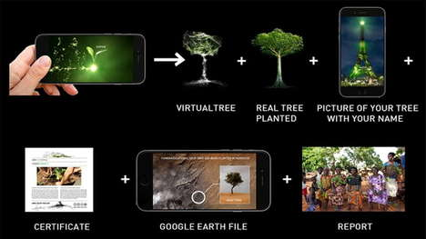 Virtual Reforestation Projects - This Art Project Will Grow a Virtual Forest on the Eiffel Tower