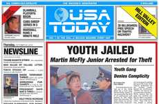 Movie-Themed Newspapers - USA Today Will Bring Back to the Future's Fake News into Reality