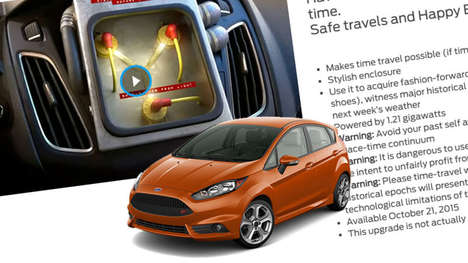 Time-Traveling Car Promotions - Ford Building a DeLorean-Like Flux Capacitor in Focus & Fiestas