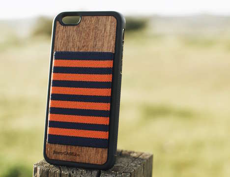 Woven Storage Smartphone Cases - The iPhone 6/S Wallet Case by jimmyCASE Keeps Everything in Place