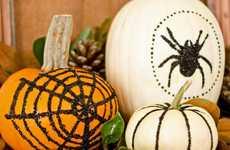 Glittered No-Carve Pumpkins - These DIY Black-Glittered Pumpkins Make Festive and Glamorous Decor
