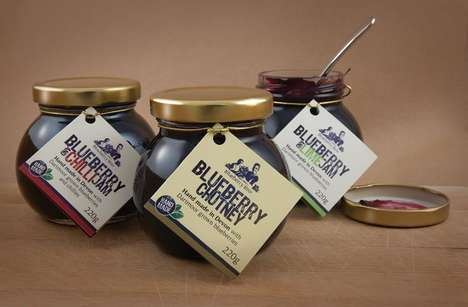 Zesty Blueberry Condiments - This Sweet Chutney is Infused with Fresh Fruit and Mild Spices