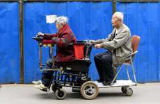 Custom Ride-Along Wheelchairs - This Double Wheelchair Was Created for China's Double Ninth Festival