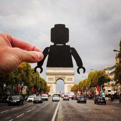 Cutout Landmark Art - This Artist Transforms European Landmarks Using Black Paper Cutouts