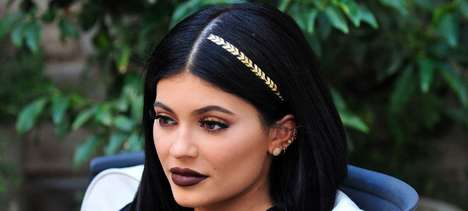 Metallic Hair Tattoos - These Glistening Flash Tattoos Add a Temporary Geometric Design to Locks