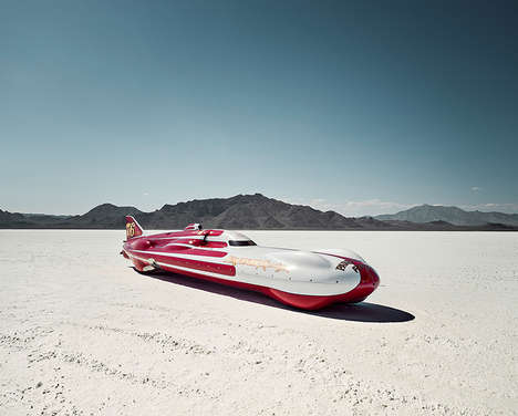 Futuristic Racing Photography - Photographer Alexandra Lier Captures Cars at the Salt Flats