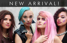 Cosmetic Rockband Tattoos - These Face Stickers are Inspired by Jem and the Holograms Characters