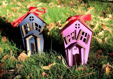 Haunted Paper Houses - These Papercraft Hanging Homes are a Festive DIY Decoration