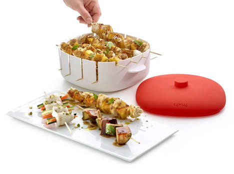 Healthy Skewed Meat Steamers - The Kitchen Kabob Steamer Doesn't Use Any Fats to Cook Your Meal