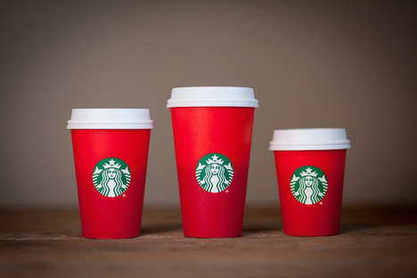 Minimalist Holiday Coffee Cups - The Red Holiday Cups from Starbucks Take a Simple Festive Approach