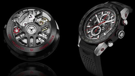Dark Luxurious Smartwatches - Tag Heuer Continues to Tease its Upcoming Android Wear Smartwatch