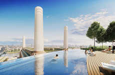 London Infinity Pools - The Battersea Power Station Development Will Feature a Pool-Topping Hotel