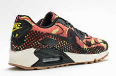 Multi-Colored Dotted Sneakers - Nike's Colorful Camo and Dot Motif is Now Printed on the Air Max 90