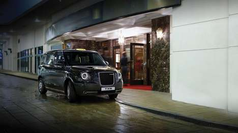Iconic Electric Taxis - These Iconic London Black Cabs Are Lightweight and Electric-Powered