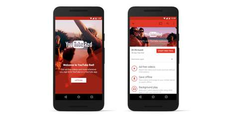 Premium Video Services - YouTube Red Will Allow For Ad-Free Videos and Offline Video-Watching