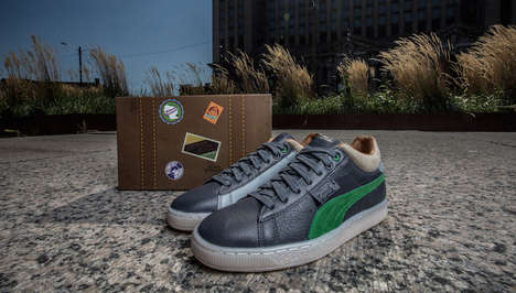 Industrial-Stylized Sneakers - This Puma Stepper Design Pays Tribute to Detroit's Abandoned Station