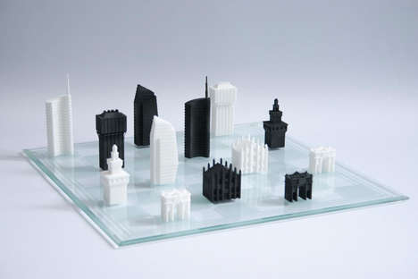Cityscape Chess Sets - This 3D-Printed Chess Game Features Pieces Inspired by Milan's City Skyline