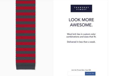Personalized Wool Ties - This Service Offers Multidimensional Ties in Custom Color Combinations