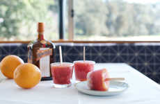 Fizzy Citrus Popsicles - These DIY Blood Orange Ice Pops are Filled with Explosive Flavor