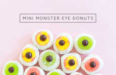 Festive Cyclops Donuts - This Cute Halloween Donut DIY Project Creates Edible Eyeball Desserts