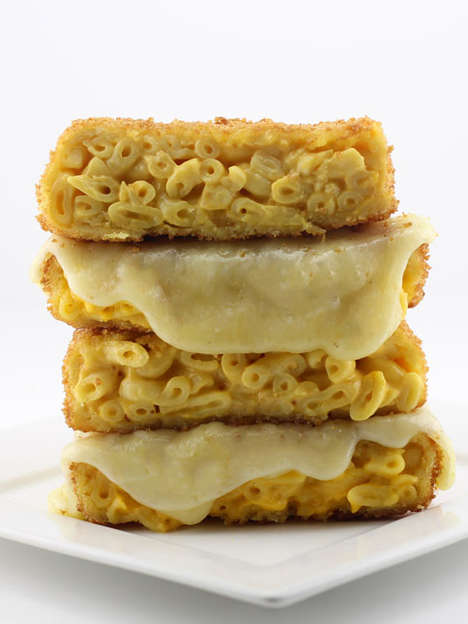 Fried Cheesy Macaroni Sandwiches - The Grilled Mac and CHeese Sandwich From DudeFoods is Epic