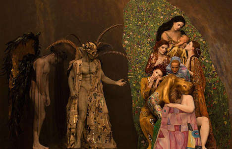 Living Fine Art Replicas - These Stunning Photos Capture Women in Gold Staging Famous Klimt Pieces