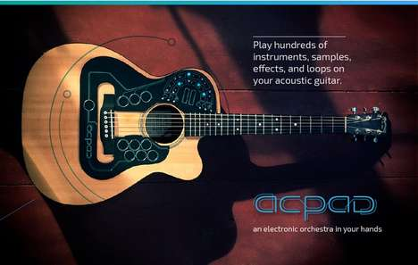 Electronic Sampling Guitars - The ACPAD Fits Onto Guitars to Enable Acoustic Electronic Effects