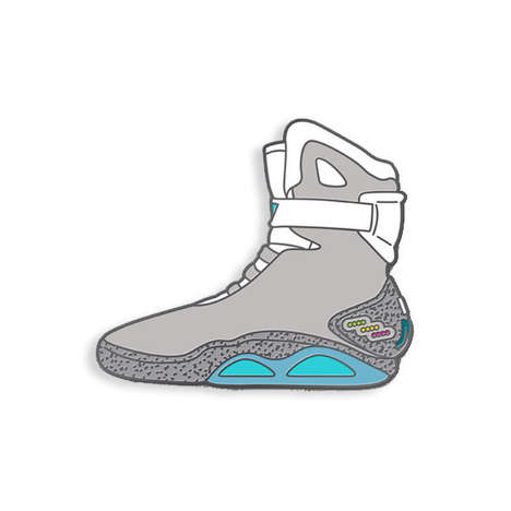 Futuristic Sneaker Pins - The 'Yesterdays' Air Mag Pin Pays Tribute to an Iconic 80s Film