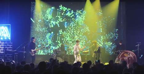 Responsive Musical Light Shows - The Electronic Band 'Neon Indian' Integrated Kinect Sensors