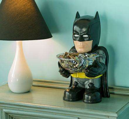 Candy-Wielding Superhero Statues - This Batman Standing Candy Bowl is for Fans to Display Sweets