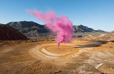 Vibrant Smokebomb Photography