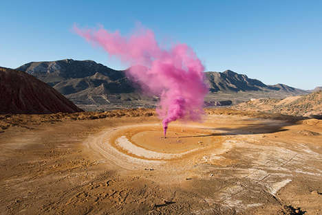 Vibrant Smokebomb Photography - The Blossom Project Photos Capture Smokebombs Around the World